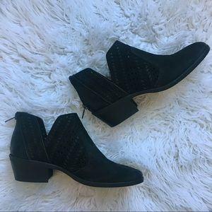 Vince Camuto Genuine Suede Leather Black Booties